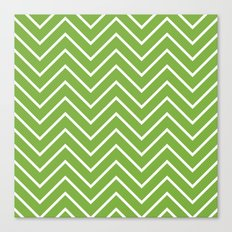 Lime Chevron Canvas Print