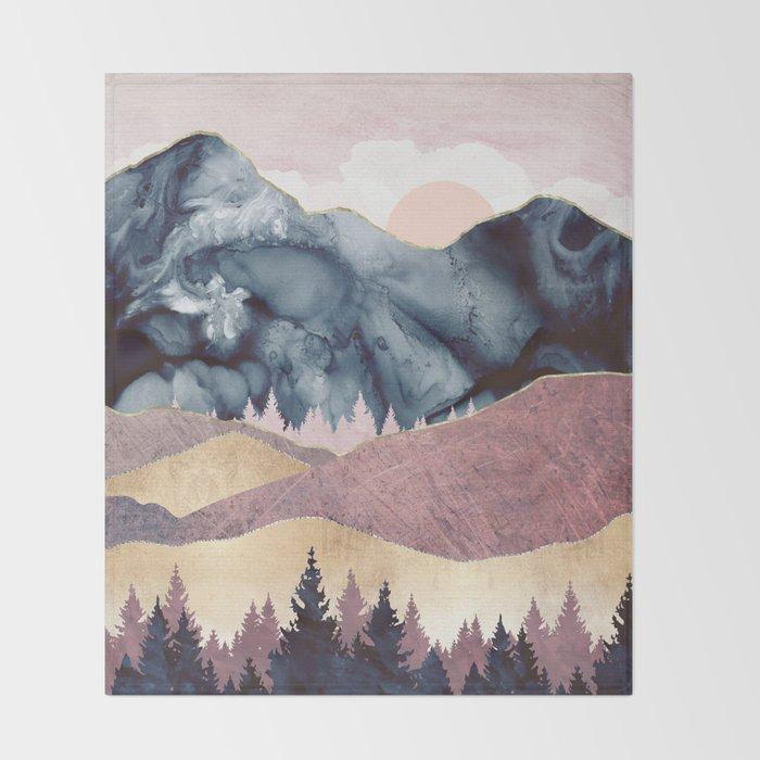 Mauve Vista Throw Blanket