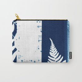 Traveller's Dream, collage, blue print, cyanotype print, wall art, wall decor Carry-All Pouch