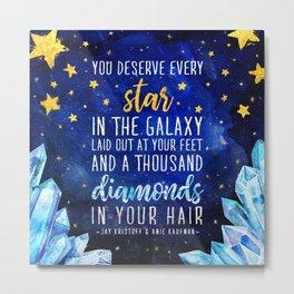 Star and Diamonds Metal Print