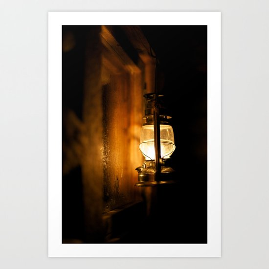 Oil lamp Art Print