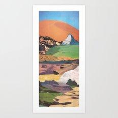 Peaks And Plateaus Art Print