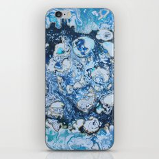 Marbled Blue Universe iPhone & iPod Skin