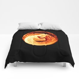 Fire Egg with Man Inside Comforters
