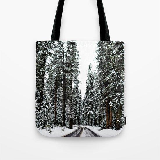 Winter Road #snow Tote Bag