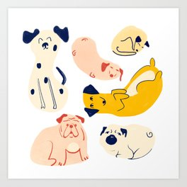 Chill Pups Art Print