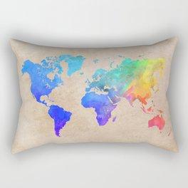 world map 42 color Rectangular Pillow