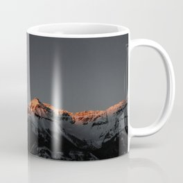 Mountain-sunset view from Telluride, once a mining boomtown and now a popular skiing destination in Colorado Coffee Mug