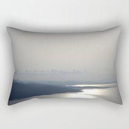 Silver Grey Hues of Gokova Bay Rectangular Pillow