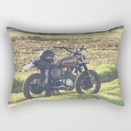 Moto guzzi, café racer, photo in south italy, man cave. Scrambler, fine art, motorcycle, motorbike Rectangular Pillow