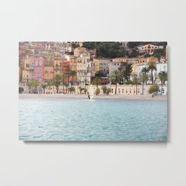 Surfboarding in Menton Metal Print