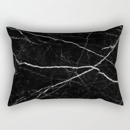 Black marble abstract texture pattern Rectangular Pillow