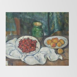 "Paul Cezanne ""Still Life with Cherries and Peaches"" Throw Blanket"