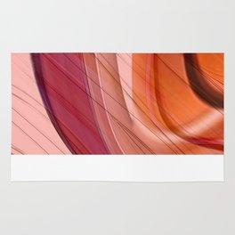 Colorgradient purple and orange Rug