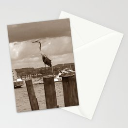 Sepia Great Blue Heron Stationery Cards