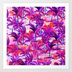 Palm Tree Purple Art Print