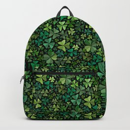 Luck in a Field of Irish Clover Backpack