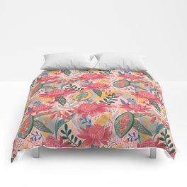 Australian Floral in Blush Comforters