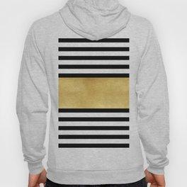 Zebra pattern with golden stripe Hoody