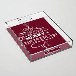 The Wishing Christmas Tree Acrylic Tray