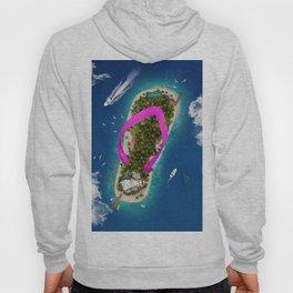 Flip Flop Island Pink Hoody