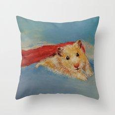 Hamster Superhero Throw Pillow