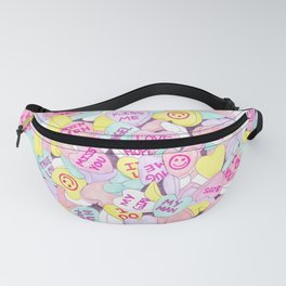 Candy Hearts (Sweet Hearts-inspired) Fanny Pack