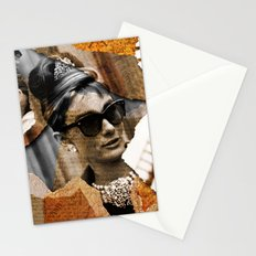 Audrey Hepburn - Ripped Paper Style - Stationery Cards