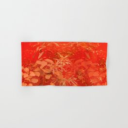 Beautiful red foliages - illustration of garden Hand & Bath Towel