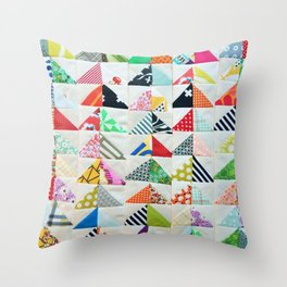 Flying Geese Quilt Pattern Throw Pillow