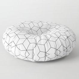 3D Cubes Line Pattern Floor Pillow
