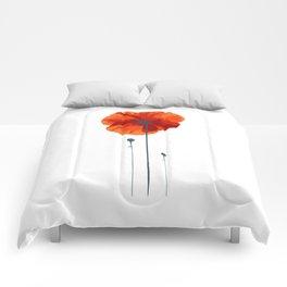Poppy poppy poppy Comforters