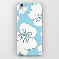 Blue Pansies iPhone & iPod Skin