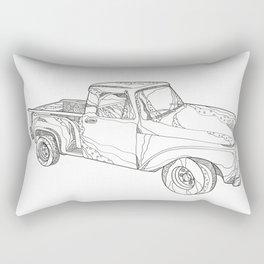 Vintage Pickup Truck Doodle Art Rectangular Pillow