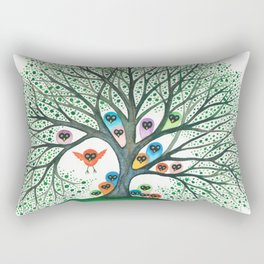 Teton Owls in Tree Rectangular Pillow