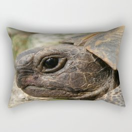 Close Up Side Portrait Of A Turkish Tortoise Rectangular Pillow