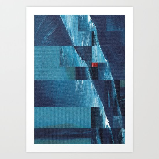 Cracking Waves (Distant Shore) Art Print