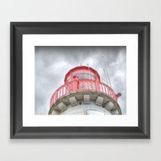 Moody Lighthouse Framed Art Print