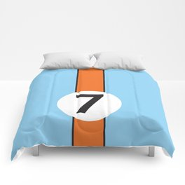 Gulf Racing Ford GT40 Le Mans 24 Hours Comforters