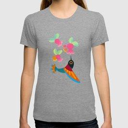 Flower and bird T-shirt