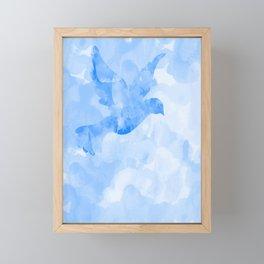 Abstract Flying Dove II Framed Mini Art Print
