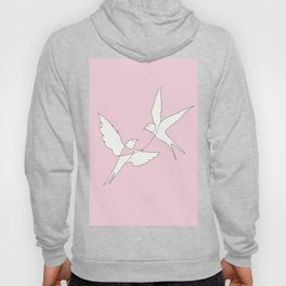 Two Swallows Line Art Hoody