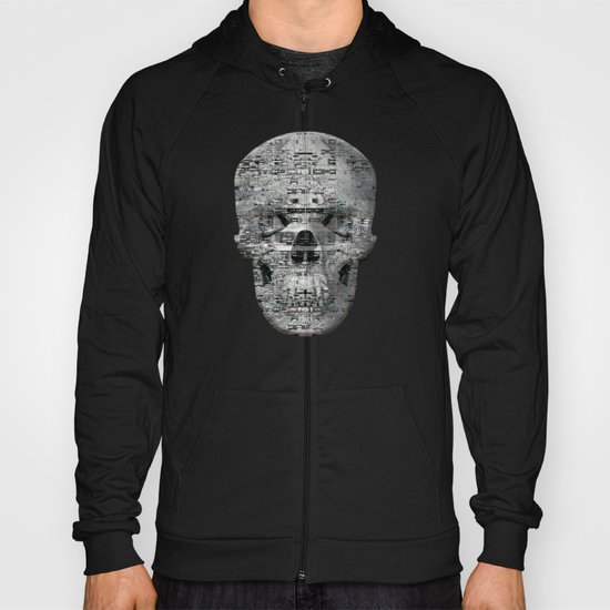 Highly Resolved Ghost (P/D3 Glitch Collage Studies) Hoody