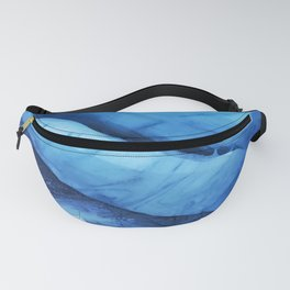 Blue ice of Blackcomb Glacier Ice Cave Fanny Pack