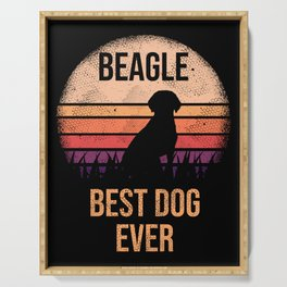 Beagle design For Dog Lovers Cute Dog Serving Tray