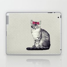 Cat with a Bow Laptop & iPad Skin