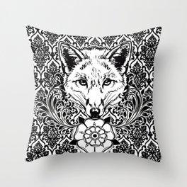 fox damask Throw Pillow