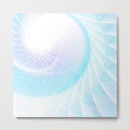 Spiral Wings Metal Print
