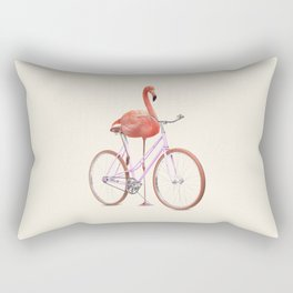 FLAMINGO BIKE Rectangular Pillow