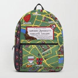 HARVARD University map CAMBRIDGE Backpack